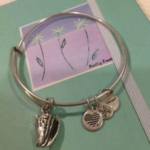 Alex and Ani conch shell charm  bangle bracelet
